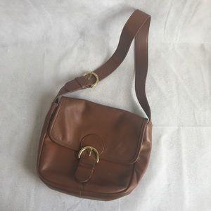 Vintage Coach shoulder bag, brown tanned leather